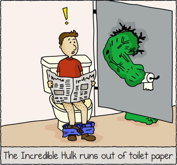Hulk toilet paper pic