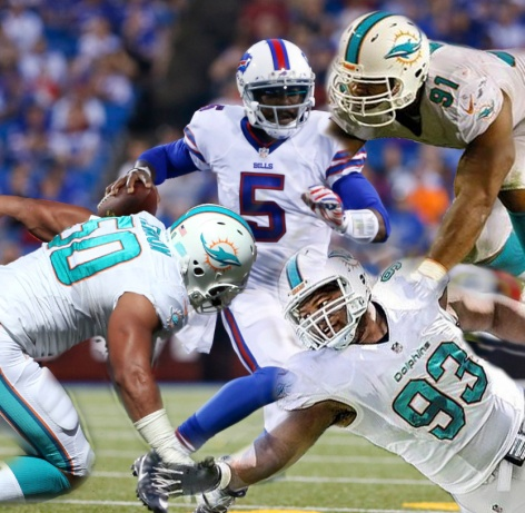 Buffalo Bills quarterback Tyrod Taylor (5) looks to pass against the Carolina Panthers during the first half of an NFL preseason football game on Friday, Aug. 14, 2015, in Orchard Park, N.Y. (AP Photo/Heather Ainsworth)