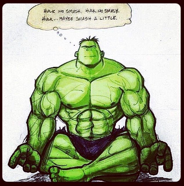 Meditating Hulk