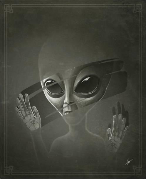 Alien-Greys-Shower-Curtain